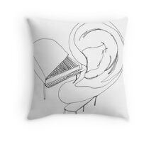 playing by ear Throw Pillow
