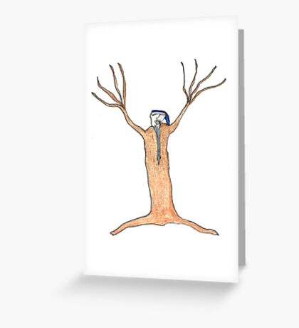 old man winter Greeting Card