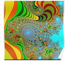 abstract colors paradise Poster