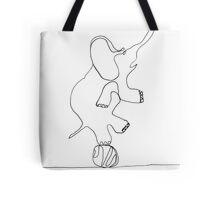 elephant on ball Tote Bag