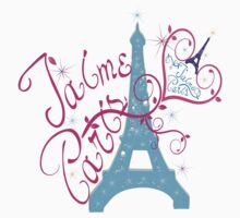 T'aime Paris Love Paris Kids Tee