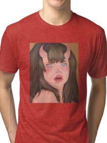 Little monster girl  Tri-blend T-Shirt