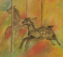 Carousel Horses by Lynn Hughes