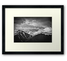 Cloudy Mountains II Framed Print