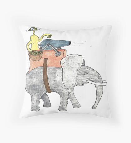 giant olive shooter Throw Pillow