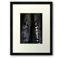 Woman symbol in Angkor Wat Framed Print