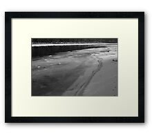 Ice on the Edge Framed Print