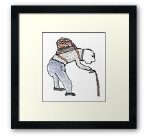 old man burden Framed Print
