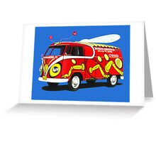 Custom VW Pest Control Camper Greeting Card