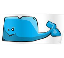 Big Blue Whale Poster
