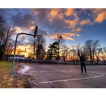 Hoops At Sunset Photographic Print