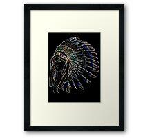 Indians Girl Framed Print