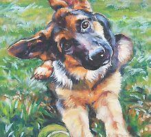 German Shepherd Fine Art Painting by lashepard