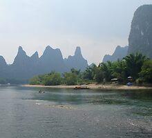 Li River in Guilin, China by Alecia Hoobing