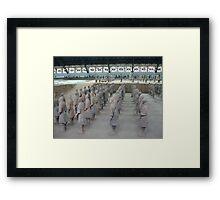 Xian Terracotta Soldiers Framed Print
