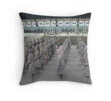 Xian Terracotta Soldiers Throw Pillow