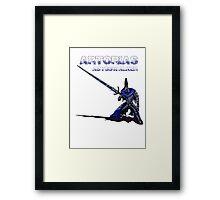 Artorias Pixel Walker Framed Print
