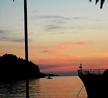 Cavtat at sunset by Wellb69Images