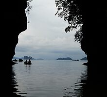Canoeing in Thailand by Alecia Hoobing