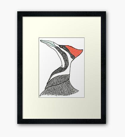 pileated woodpecker Framed Print