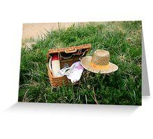 Picnic on Mornington Beach Greeting Card