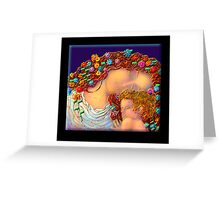 'Mother and Child'  in the style of Gustave Klimt Greeting Card
