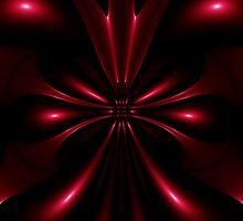 abstract red design on a black background by Orderposter
