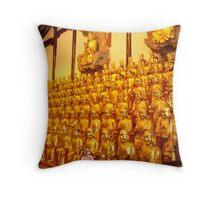 A Whole Lotta Buddhas in Shanghai Throw Pillow