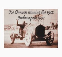 AMERICAN MOTORSPORT, RACE, RACING, Joe Dawson, winning the 1912, Indianapolis 500, on WHITE Kids Clothes
