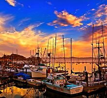 The Dock At Sunset by DavidCastello