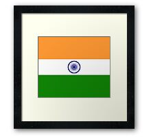 India Flag Duvet Cover - Indian Cricket World Cup Sticker Framed Print