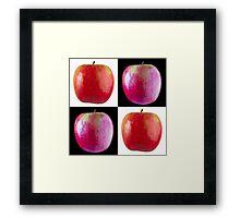 White & Black - Pink Apples Framed Print