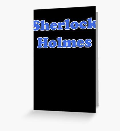 Sherlock Holmes Sticker - Conan Doyle T-Shirt Greeting Card