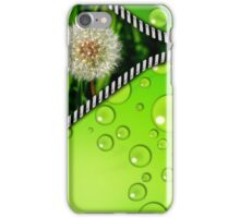 dandelion in the grass and zipper iPhone Case/Skin
