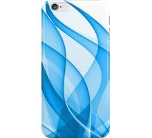 elegant blue wavy design on a white iPhone Case/Skin