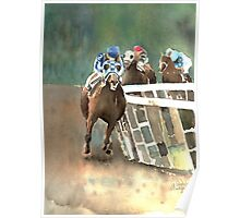 Into The Stretch And Heading For Home-Secretariat Poster