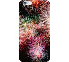 fireworks on a black background iPhone Case/Skin