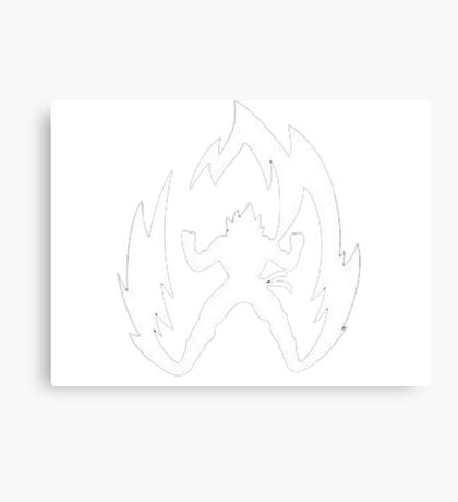 Super Saiyen Tshirt Canvas Print