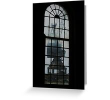Crane through panes Greeting Card