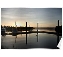 Tranquil Dawn ~ Johnstone River Moorings, Innisfail, Far North Queensland.  Poster