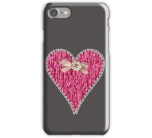 Crafty Sweet Pink Love Heart iPhone Case/Skin