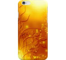 abstract golden floral design iPhone Case/Skin