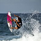 Surfers from Japan practicing at Turrimetta beach-2 by Doug Cliff