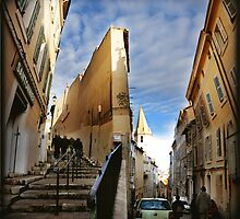 """Street in the """"Panier"""", Marseille by Catherine Ames"""