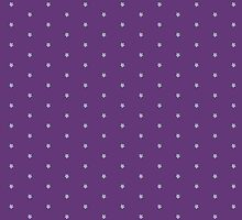 Purple Scarf with 8-Bit Forget-Me-Knots by RoseJermusyk
