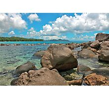 Barbarons Beach, Seychelles Photographic Print