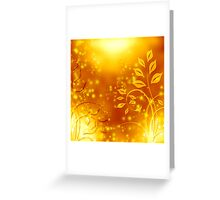 abstract golden floral design Greeting Card