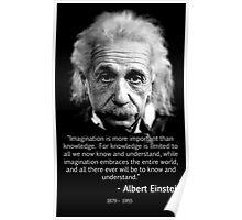 Albert Einstein Imagination Poster