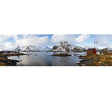 The Red Shed Panorama Photographic Print