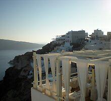 Santorini Sunset View by Cassie Wentworth